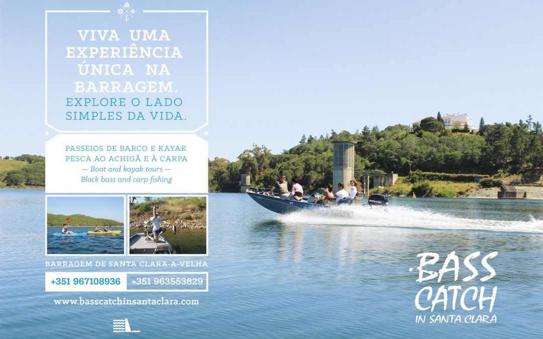 Novo cartaz da Bass Catch in Santa Clara junto à Barragem
